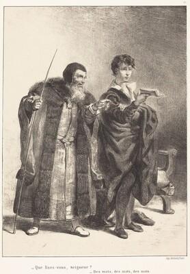 Polonius and Hamlet (Act II, Scene II)