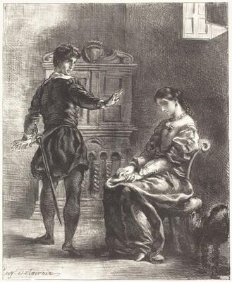 Hamlet and Ophelia (Act III, Scene I)