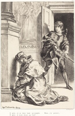 Hamlet is Tempted to Kill the King (Act III, Scene III)