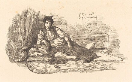 Jewish Woman of Algiers  (Juive d'Alger et une rue à Alger)