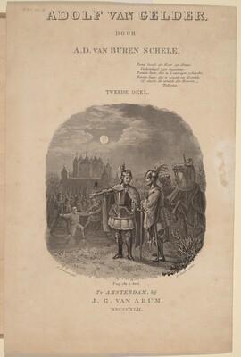 Title Page for A.D. van Buren Schele's  Adolf van Gelder, Amsterdam, 1842