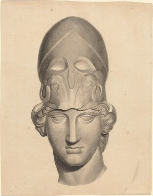 Antique Head with a Helmet