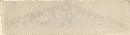 Study for Reconstruction of West Pediment of the Parthenon