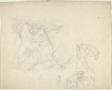 Sheet of Studies, including a Man Battling a Centaur