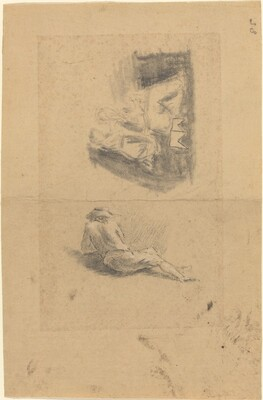 Reclining Man; Two Women