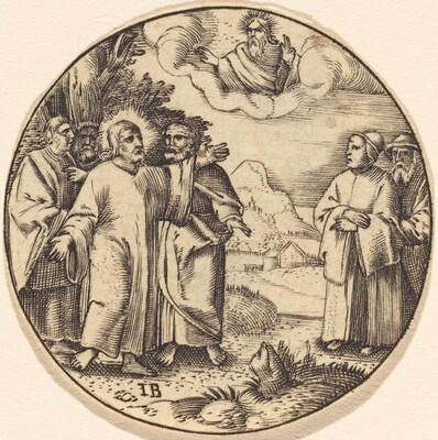 Christ with Three of His Apostles