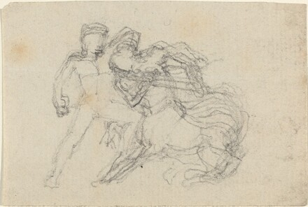 Battle between Man and Centaur