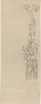 Design for a Candelabrum Representing the Three Graces Gathering the Apples of Hesper
