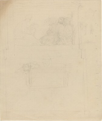 Designs for a Monument to Sir William Jones (?) [recto and verso]