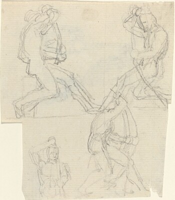 Sheet of Studies [recto and verso]