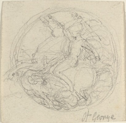 Design for a Medal Representing Saint George and the Dragon