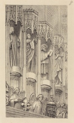 Statues in the Architecture of Henry the Seventh's Chapel, Westminster Abbey