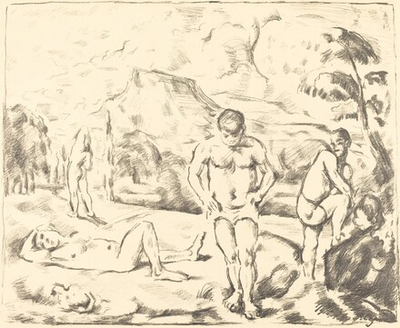 The Bathers (Large Plate)