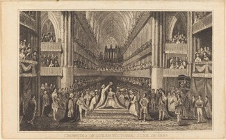 Crowning of Queen Victoria, June 28, 1838 [right half]
