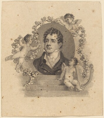 Portrait of a Young Gentleman Surrounded by Cupids; Lord Byron?