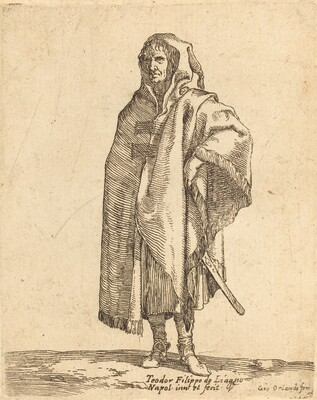 Standing Soldier in a Long Cloak