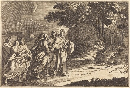 Christ Arrives on the Mount of Olives