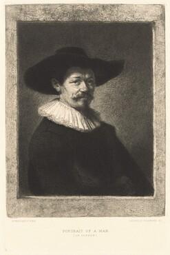 Leopold Flameng, Rembrandt van Rijn, Portrait of a Man (Le Doreur), published 1885published 1885