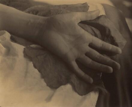Georgia O'Keeffe--Hand and Grape Leaf