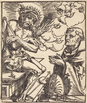 Saint Bernard Adoring the Man of Sorrows