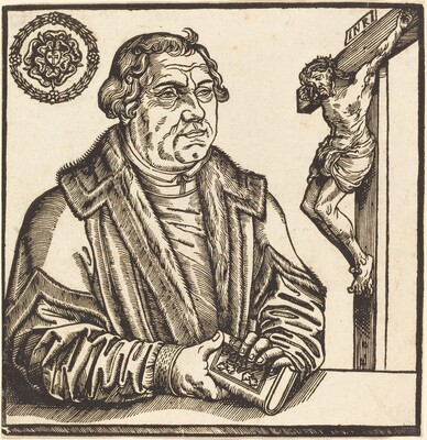 Martin Luther, Half-Length to the Left with a Book in his Hands