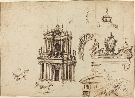 Studies for the Façade of Santa Cristina [recto]