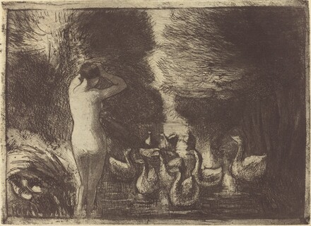 Baigneuse aux oies (Bathers with Geese)