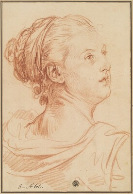Head of a Woman Looking Back Over Her Shoulder