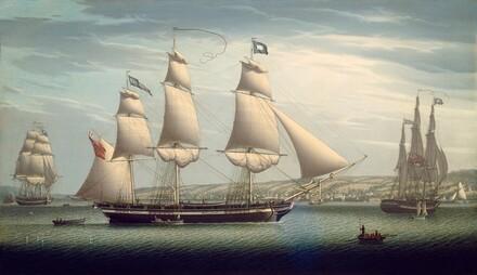 The Ship Favorite Maneuvering Off Greenock