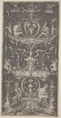 Ornamental Panel Inscribed Victoria Augusta