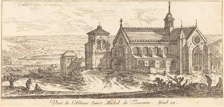 Veue de l'Abbaye Sainct Michel de Tonnerre