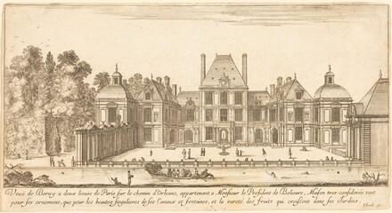 Veue de Berny a deux lieues de Paris sur le chemin d'Orléans
