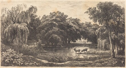 Pool with Deer (La Mare aux cerfs)