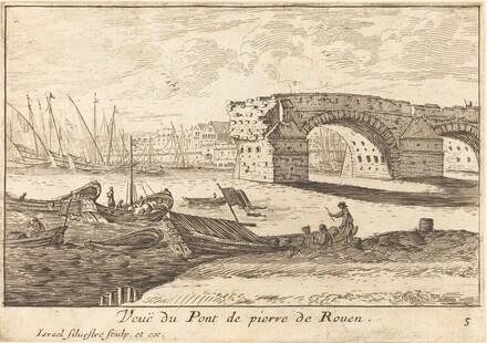 Veue du Pont de pierre de Rouen
