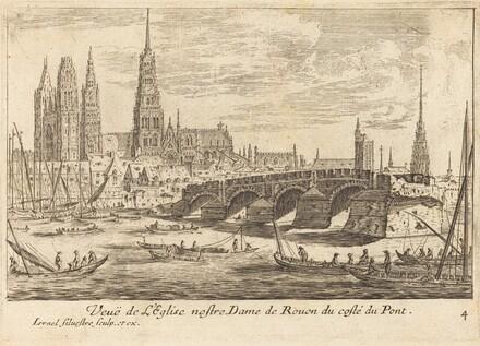 Veue de l'Eglise nostre Dame de Rouen