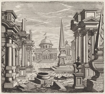 Architectural Fantasy with Obelisks, Ruins, and a Piazza