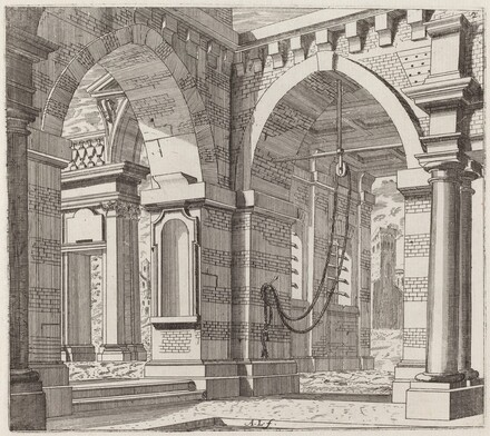 Architectural Fantasy with Arched Gateways