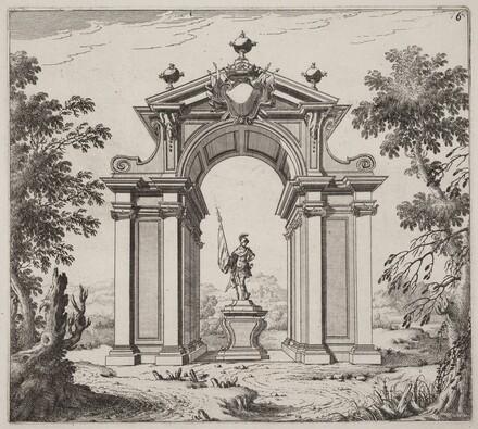 Triumphal Arch in a Landscape