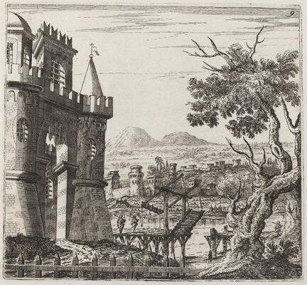 Landscape with a Castle and a Drawbridge