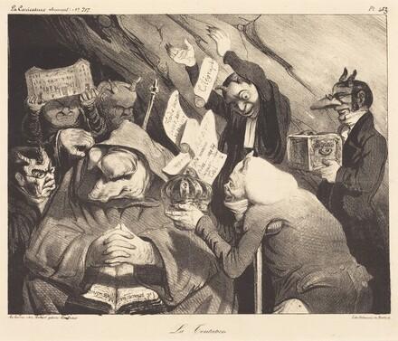 La Tentation, parodie d'une toile de Téniers