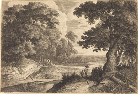 Edge of a Wood with Peasants Going to Market