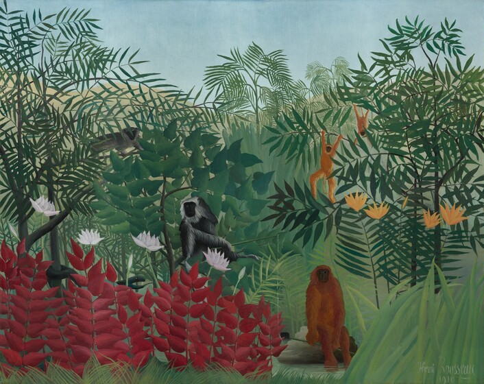 Henri Rousseau, Tropical Forest with Monkeys, 1910