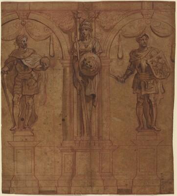 Rudolf I and Albert I with Pallas