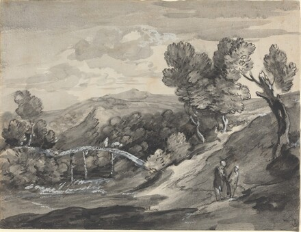 Wooded Upland Landscape with a Bridge