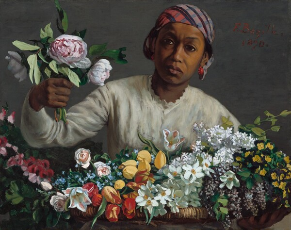 Young Woman with Peonies
