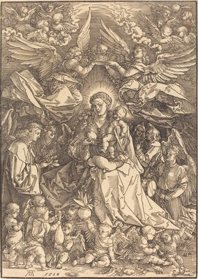 The Virgin Surrounded by Many Angels