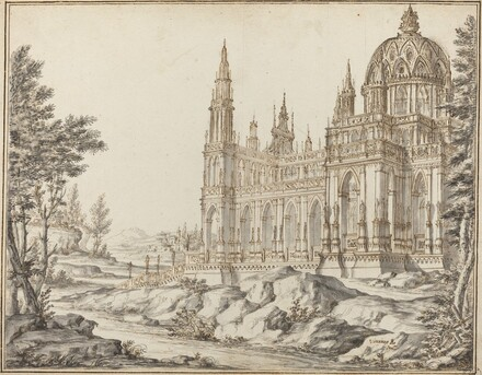 Cathedral in a Landscape