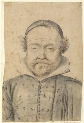 Portrait of a Bearded Man in a Doublet and Skull Cap
