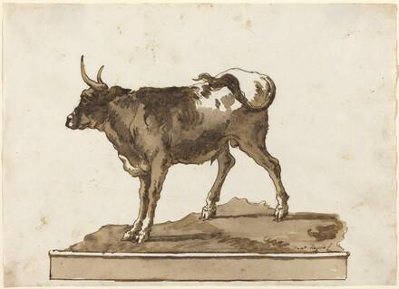 A Bull on a Ledge