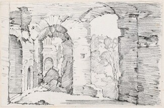 Arched Passageways of a Ruined Building